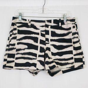 Attention Zebra Striped Shorts Size 6